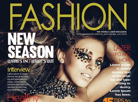 fashion magazine cover psd template graphicloads
