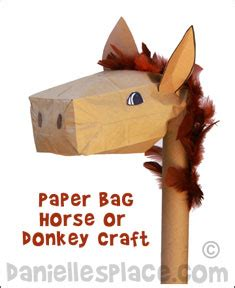 paper bag donkey pattern sunday school crafts and bible games for kids balaam and