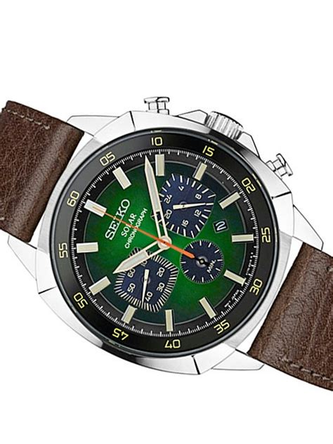 I Gear Original Water Resist 100m seiko mens ssc513 retro vintage look solar chronograph