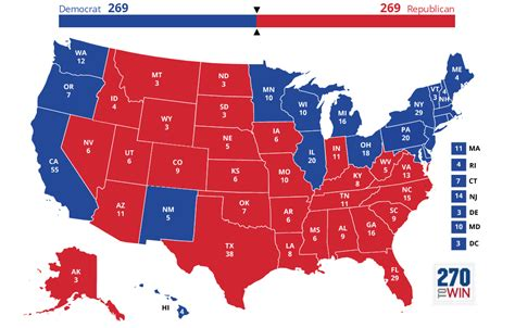 united states map with electoral votes 2020 presidential election interactive map
