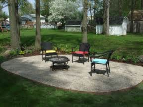 backyard patio ideas with gravel design landscaping