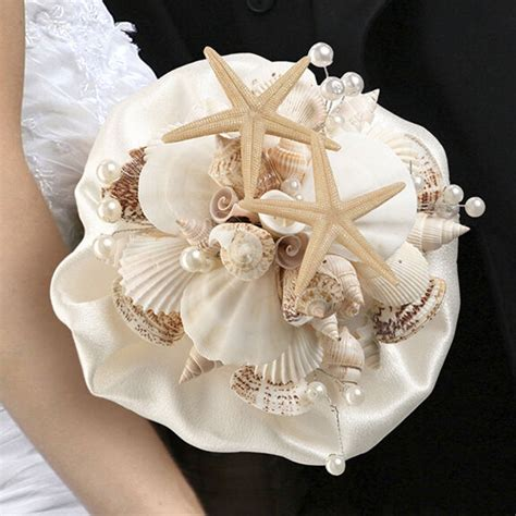 seashell bouquet themed wedding supplies seashells and starfish ebay