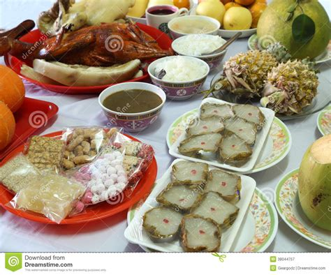 new year culture various food for new year culture stock image