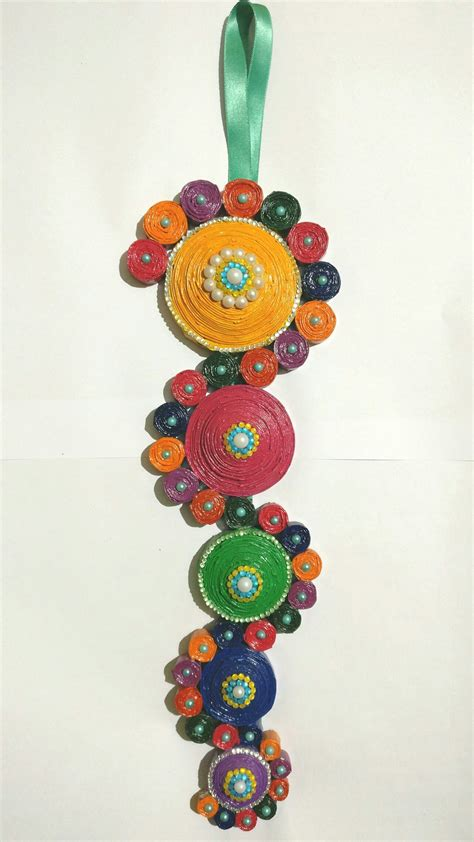 Paper Quilling Crafts - newspaper quilled wall hanging quilling