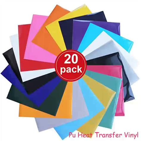 Which Heat Transfer Vinyl Size To Buy 12 X 12 - 12 color iron on heat transfer vinyl pack 12 sheets each