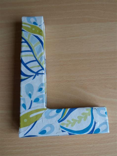 decoupage cardboard letters cardboard letter decoupaged with wallpaper sle gotta try