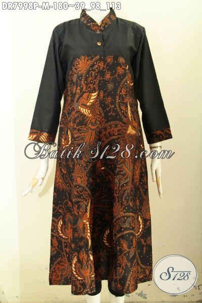Baju Wanita Dress Panjang Bagus model baju batik wanita untuk til elegan dan mewah