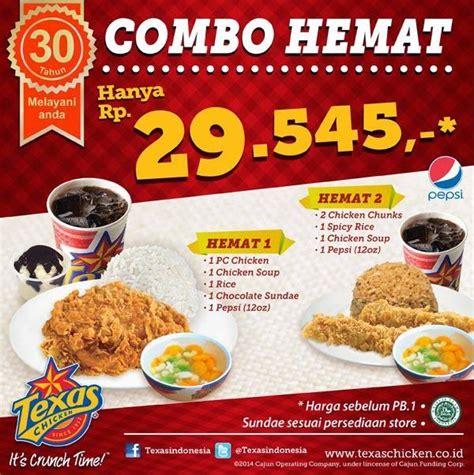 Harga Paket Hemat Produk harga menu combo hemat harga menu chicken harga