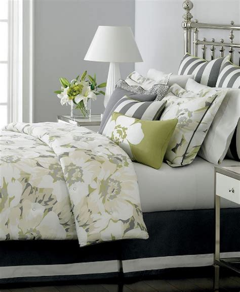green and grey bedding poppy floral ms