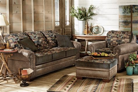 lodge couch woodland cabin sofa collection
