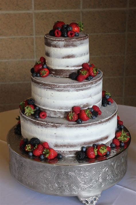 go semi naked; lovely with the fresh berries   by Cake