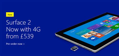 microsoft surface 2 sim card uk pre orders for 4g version of microsoft s surface 2 now