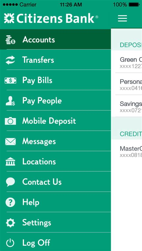 bank account app citizens bank mobile banking iphone app app store apps