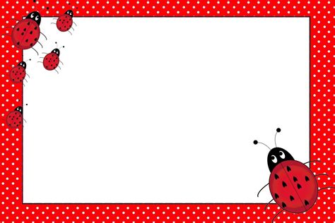 Ladybug Birthday Card Template by Lovely Ladybugs Free Printable Invitations Uğurb 246 Ceği3