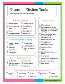 Kitchen Checklist For First Home essential kitchen tools for easier meal preparation