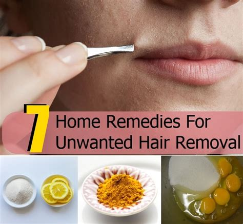 home remedies for hair removal on chin