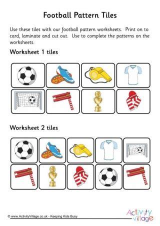 tile pattern worksheets football worksheets