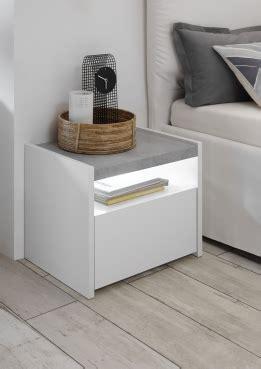 lade comodini nachtkastjes wit betonlook set 2 stuks zwarte en