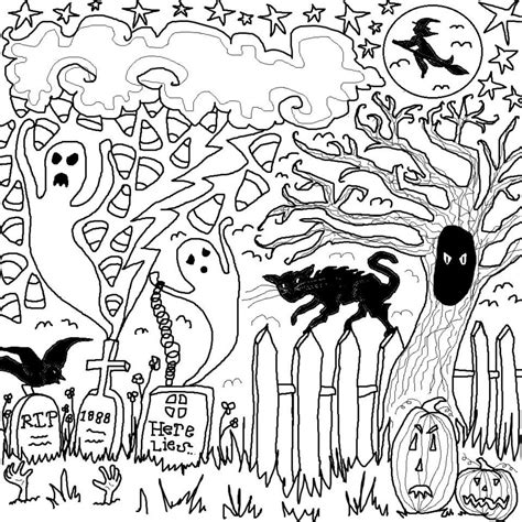 halloween coloring pages ideas gallery halloween drawing activity festival collections