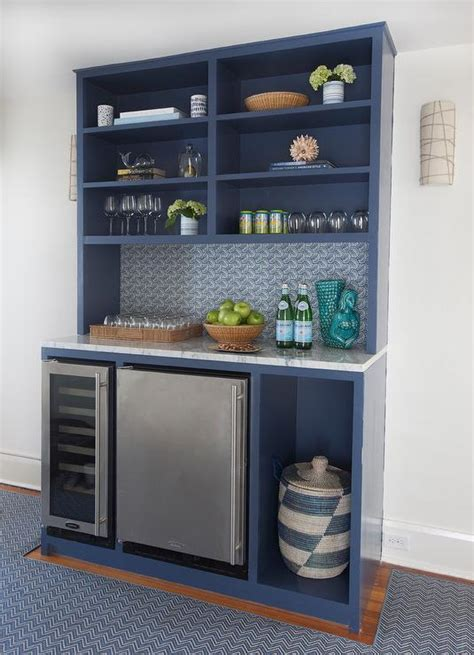 glass front mini fridge wine rack hanging dining room