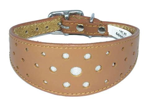 Handmade Whippet Collars - circle glitter design wholesale leather italian