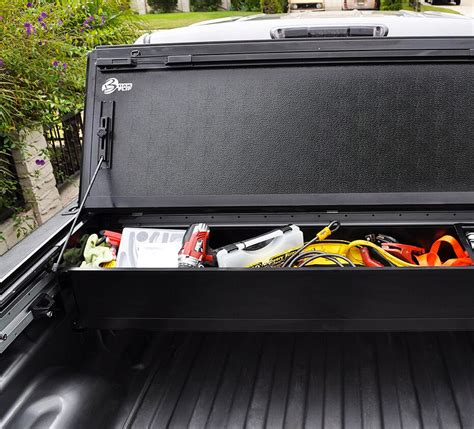 bakbox 2 tonneau tool box truck storage realtruck bakbox 2 tonneau toolbox overview