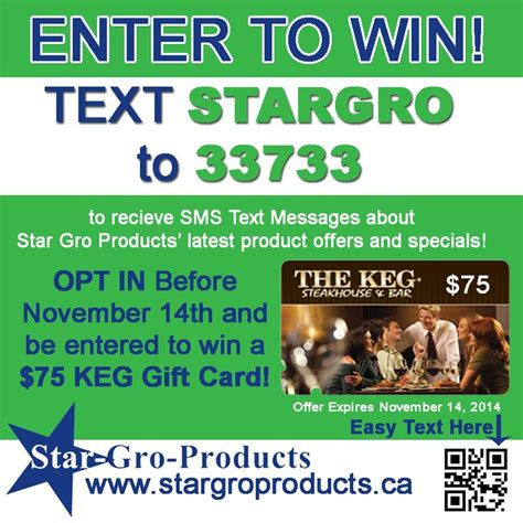 Sms Gift Cards - 17 best images about star gro products contests events on pinterest happy canada