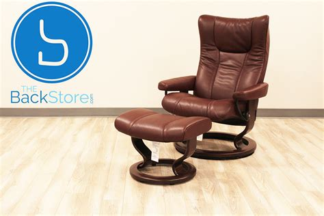 stressless wing recliner stressless eagle large wing cori amarone color leather by