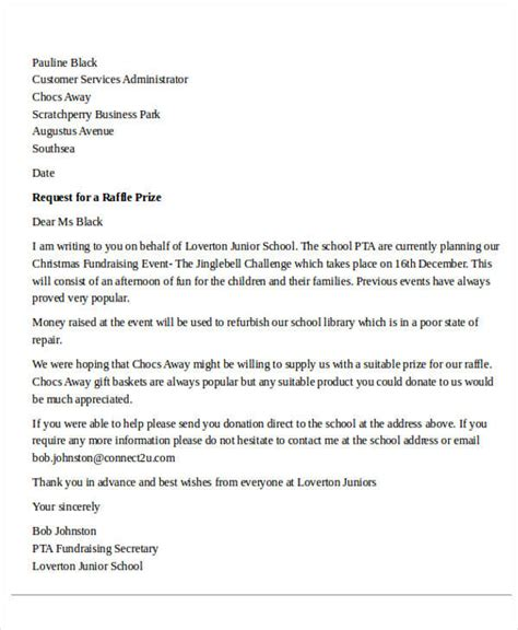 charity prize letter charity letter asking for raffle prizes 28 images 28