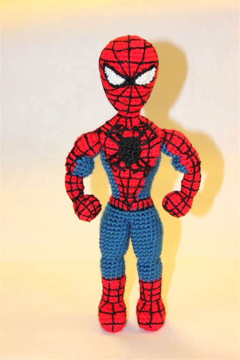 Pattern For Crochet Spiderman Doll | pattern instant download spiderman superhero crochet doll