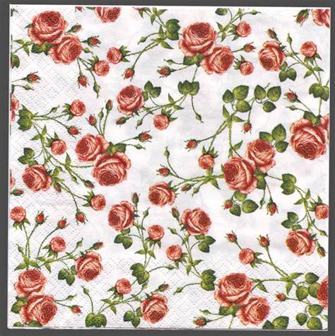 Decoupage Printer Paper - decoupage paper of tiny roses on white napkin chiarotino