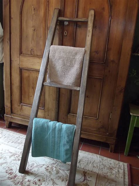 woods vintage home interiors reclaimed wooden towel ladder by woods vintage home