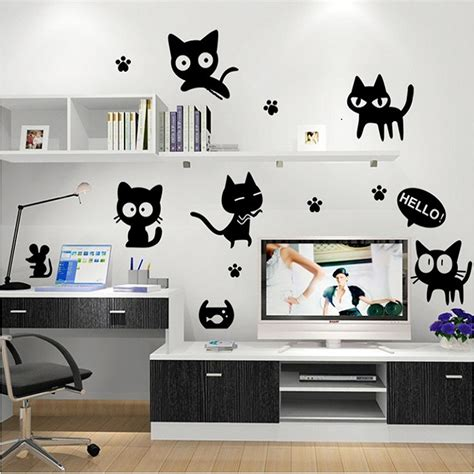 cat wallpaper home decor cute wallpaper reviews online shopping cute wallpaper