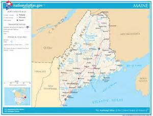 Map Of The State Of Maine by Maine State Maps Interactive Maine State Road Maps