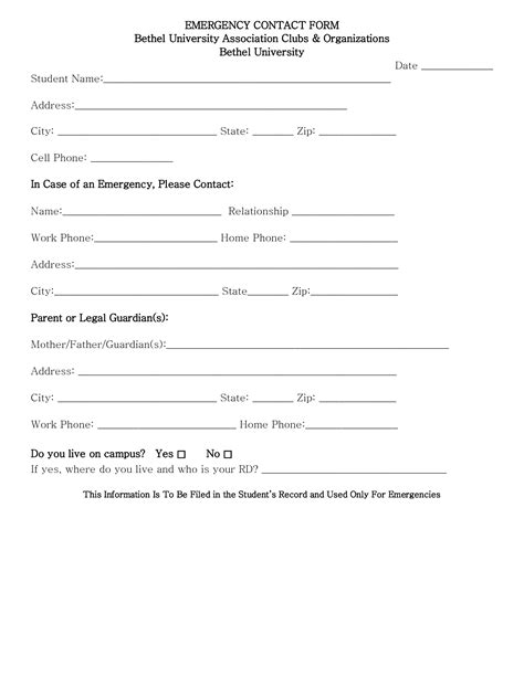 employee contact form best photos of sle emergency contact form emergency