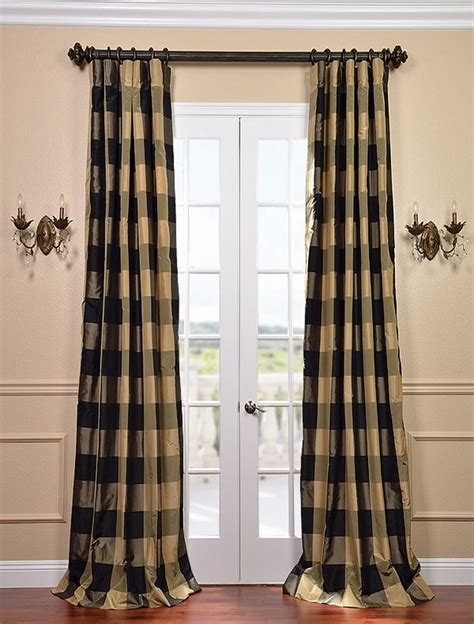 plaid draperies eastwood silk taffeta plaid curtain curtains rugs
