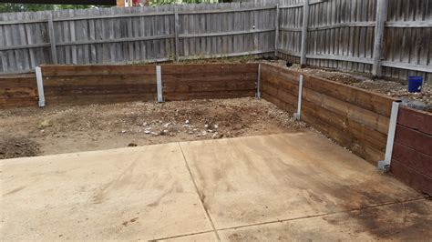 awesome picture of timber sleeper retaining walls