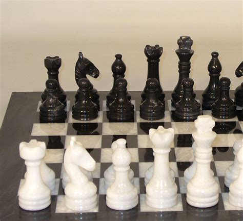 white chess set chess sets from the chess piece chess set store black and