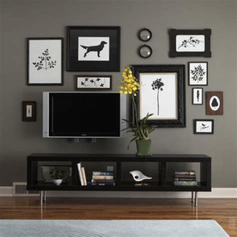 how to decorate your living room walls frame your wall mounted tv gadget diy pinterest wall