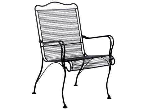 Wrought Iron Lounge Chair Patio Woodard Tucson Wrought Iron High Back Lounge Chair 1g0006