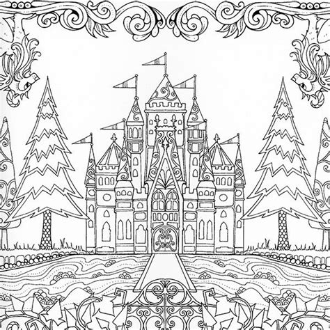 coloring pages for adults enchanted icolor quot amazing places quot johanna basford the enchanted
