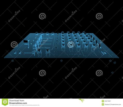 Mixer Audio Black Spider set black dj mixer equipment royalty free stock photo