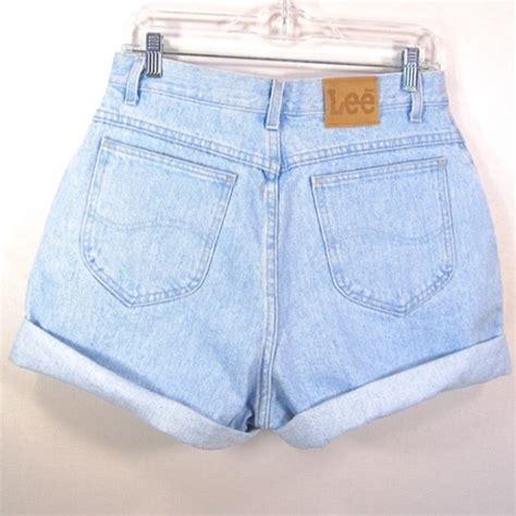 light wash high waisted shorts levi s vintage high waisted light wash denim shorts