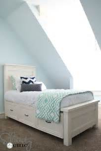 Diy Toddler Bed With Drawers Diy Storage Bed Shanty 2 Chic