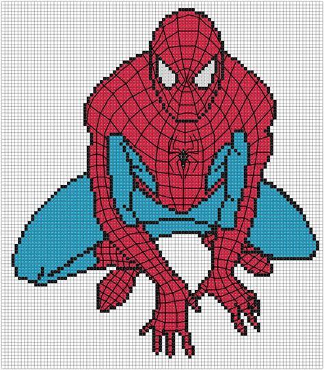 spiderman needlepoint pattern schema spiderman super heroes pinterest stitches