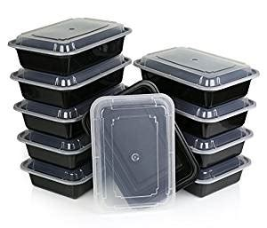 Pet Tray Salad 750ml chefland one compartment microwavable plastic