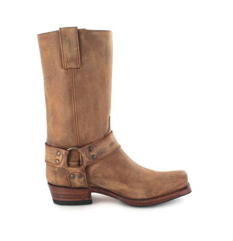 brown biker style boots sendra boots 8833 tang lavado biker boot brown fashion