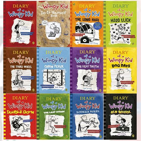 the author diary 2018 books diary of a wimpy kid series collection by jeff kinney