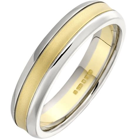 an mixed finish wedding ring in 18ct yellow