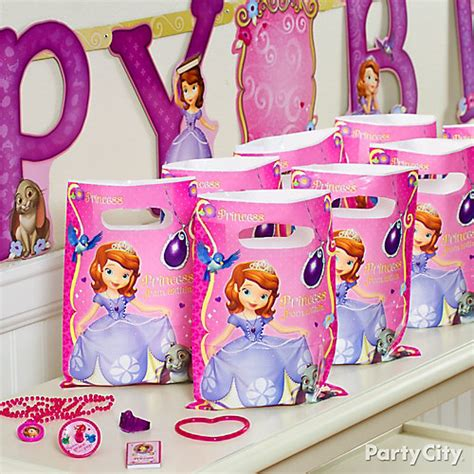Sofia The First Birthday Giveaways - sofia the first favor pack for 8 idea party city